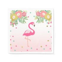 Tropical Aloha Flamingo Paper Napkins Birthday