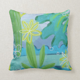 Tropical Aloha Green & Blue Pillows