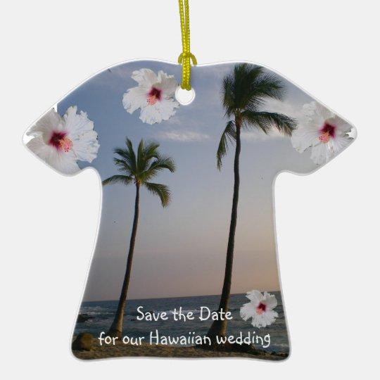 Tropical Aloha Shirt Ceramic Ornament