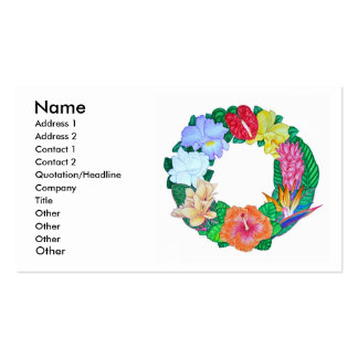 Tropical Aloha Wreath Double-Sided Standard Business Cards (Pack Of 100)