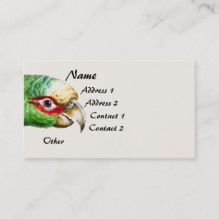 Amazon parrots business cards zazzle tropical amazon parrot bird wildlife business card colourmoves