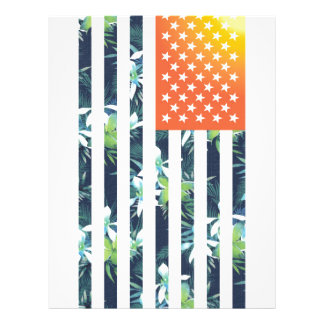 Tropical American Flag Flyer