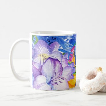 Hawaiian Themed Tropical and Bright Floral Mug