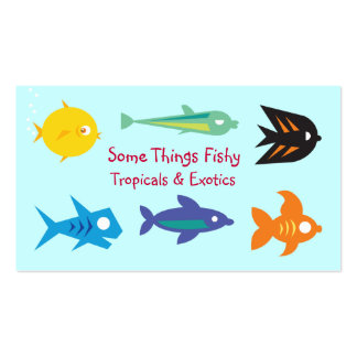 Tropical and Exotic Fish Store Biz Card Template