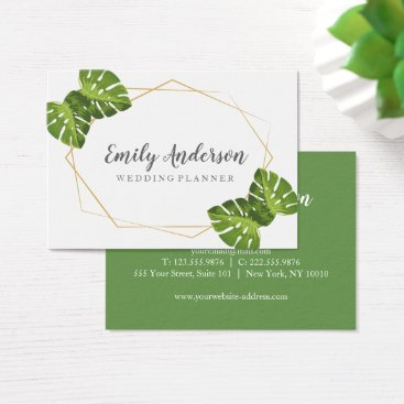 Professional Business Tropical and gold elegant business card