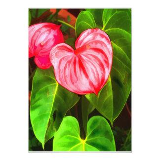 Tropical Anthurium 5x7 Paper Invitation Card