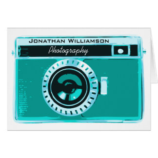Tropical Aqua Camera Photography Business Card