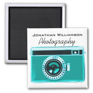 Tropical Aqua Camera Photography Business Magnet