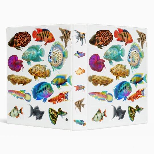 Tropical Aquarium Fish Avery Binder