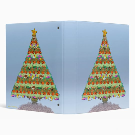 Tropical Aquarium Fish Christmas Tree Binder