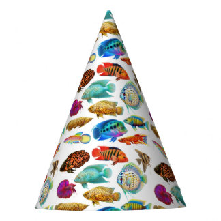 Tropical Aquarium Fish Party Hat