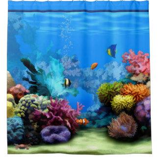 Curtains Ideas coral reef shower curtain : Aquarium Shower Curtains | Zazzle