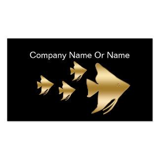 Tropical Aquaruim Silhouette Business Cards