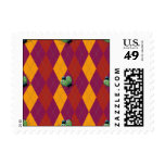 Tropical Argyle Ladybug Postage Stamps