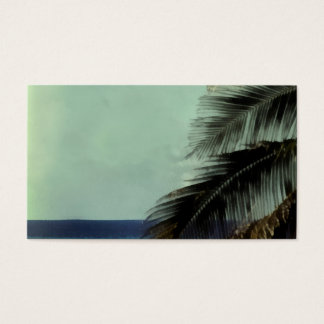 tropical art business card template palm leaves