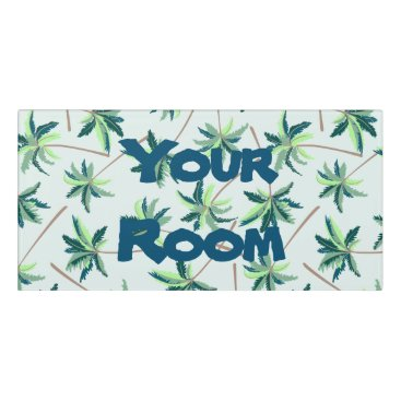 adamfahey Tropical Australian foxtail palm Door Sign