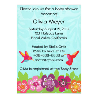 "Tropical Baby Shower Invitation 4.5"" X 6.25"" Invitation Card"