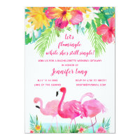 Tropical Bachelorette Party Weekend Getaway Invitation