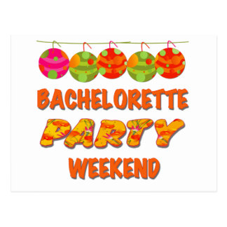 Tropical Bachelorette Party Weekend Postcards