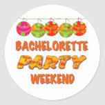 Tropical Bachelorette Party Weekend Stickers