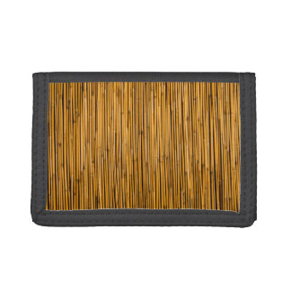 Tropical Bamboo Background Tropical Island Blank Tri-fold Wallet