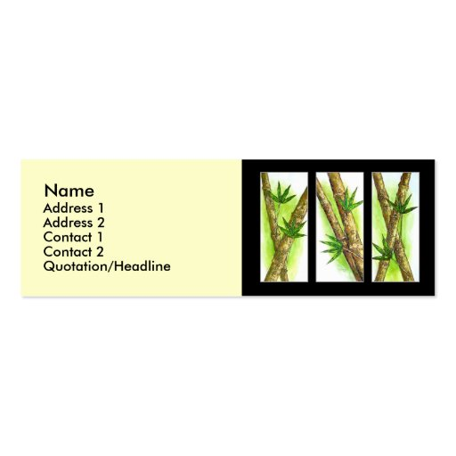 Tropical Bamboo Painting Multi Business Card Template