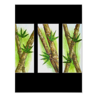 Tropical Bamboo Painting - Multi Posters
