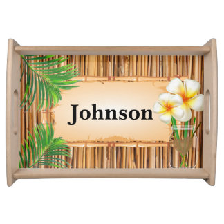 Tropical Bamboo Serving Tray