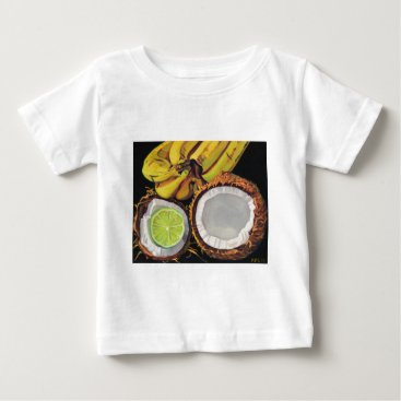 Beach Themed Tropical Banana Coconut Lime Baby T-Shirt