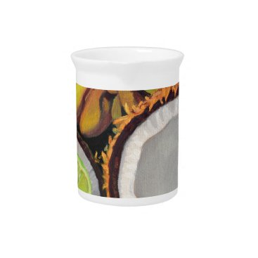 Beach Themed Tropical Banana Coconut Lime Beverage Pitcher