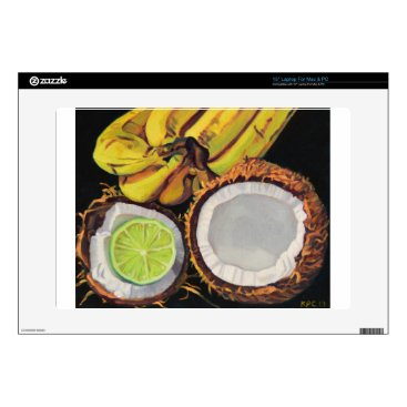 Beach Themed Tropical Banana Coconut Lime Decals For Laptops