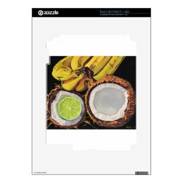 Beach Themed Tropical Banana Coconut Lime Decals For The iPad 2