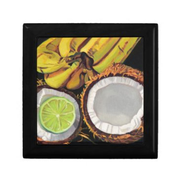 Beach Themed Tropical Banana Coconut Lime Gift Box