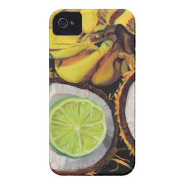 Beach Themed Tropical Banana Coconut Lime iPhone 4 Case