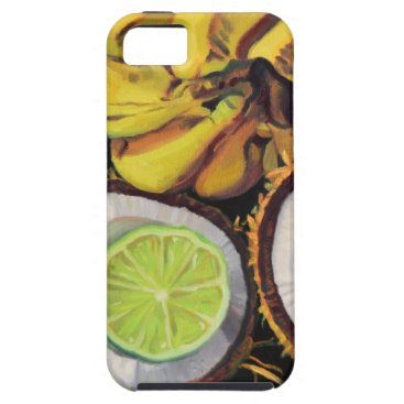 Beach Themed Tropical Banana Coconut Lime iPhone SE/5/5s Case
