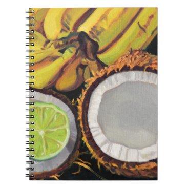 Beach Themed Tropical Banana Coconut Lime Notebook
