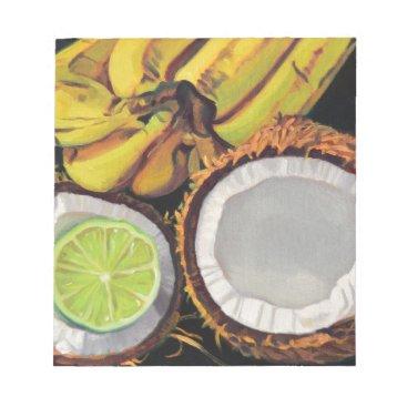 Beach Themed Tropical Banana Coconut Lime Notepad