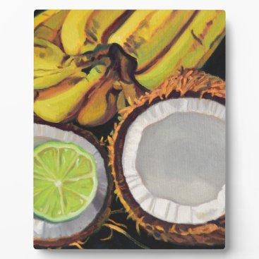 Beach Themed Tropical Banana Coconut Lime Plaque