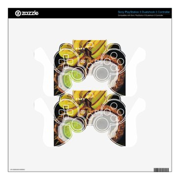 Beach Themed Tropical Banana Coconut Lime PS3 Controller Skins