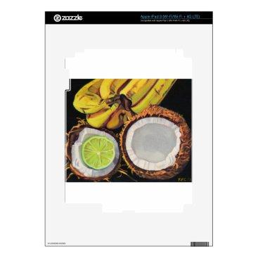 Beach Themed Tropical Banana Coconut Lime Skins For iPad 3