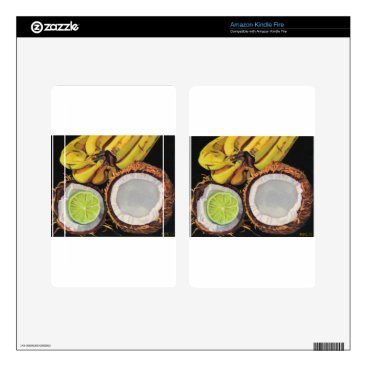 Beach Themed Tropical Banana Coconut Lime Skins For Kindle Fire