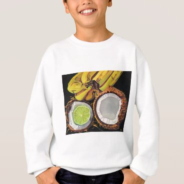 Beach Themed Tropical Banana Coconut Lime Sweatshirt