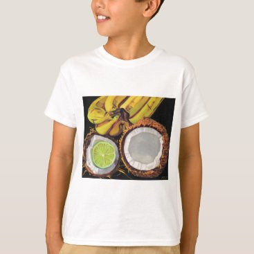 Beach Themed Tropical Banana Coconut Lime T-Shirt
