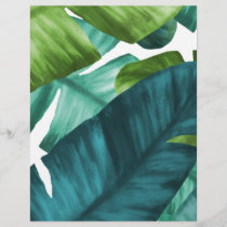 Tropical Banana Leaves Unique Pattern