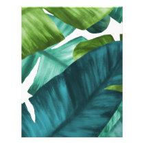 Tropical Banana Leaves Unique Pattern Letterhead