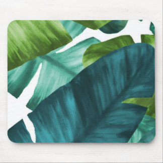 Tropical Banana Leaves Unique Pattern Mouse Pad