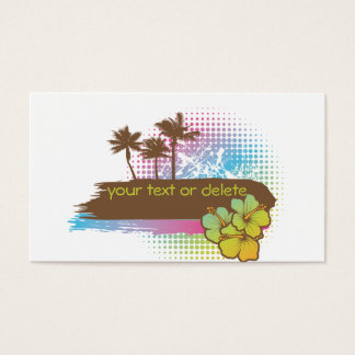 Tropical banner business card