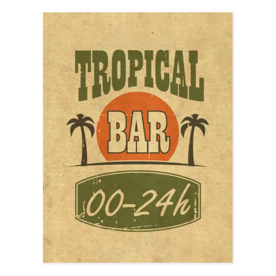 Tropical Bar Postcard