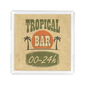 Tropical Bar Serving Tray