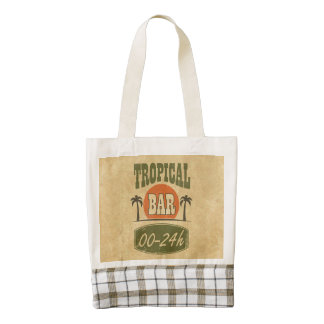 Tropical Bar Zazzle HEART Tote Bag